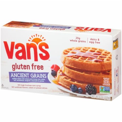 Van's Gluten Free Ancient Grains Waffles - 6 ct Perspective: right