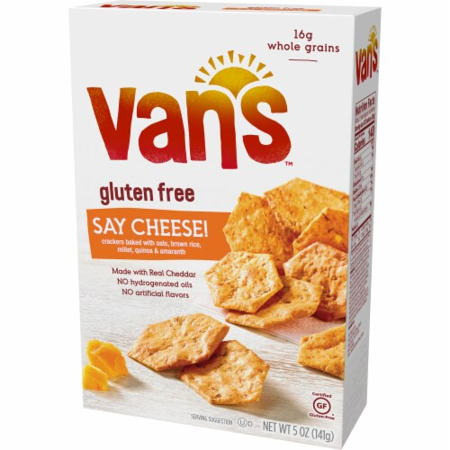 Van's Gluten Free Say Cheese! Crackers Perspective: right