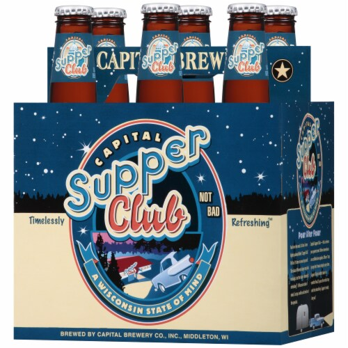 Capital Brewery Supper Club Lager Perspective: right