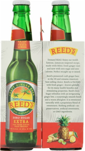 Reed's Zero Sugar Craft Ginger Beer Perspective: right