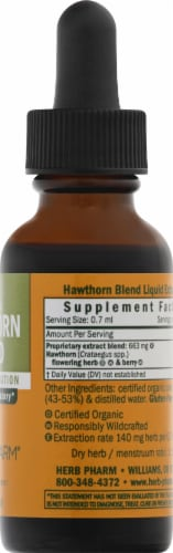 Herb Pharm Hawthorn Blend Herbal Supplement Perspective: right