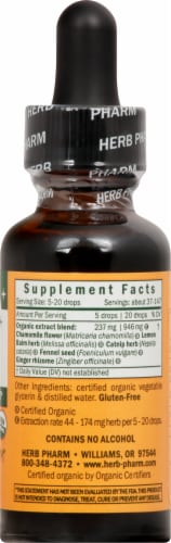 Herb Pharm Kids Tummy TLC Organic Herbal Supplement Perspective: right