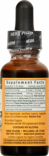 Herb Pharm Kids Cough Crusader Herbal Supplement Perspective: right