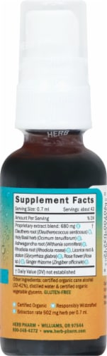 Herb Pharm Herbs on the Go Daily Stress Balance Herbal Supplement Perspective: right