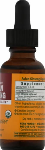 Herb Pharm Asian Ginseng Herbal Supplement Perspective: right