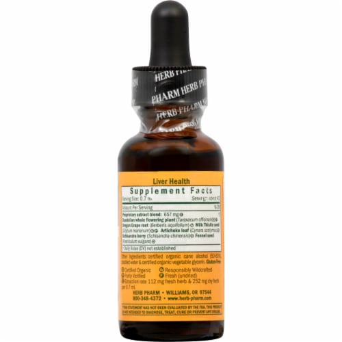 Herb Pharm Liver Health Herbal Supplement Perspective: right