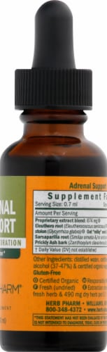 Herb Pharm Adrenal Support Herbal Supplement Perspective: right