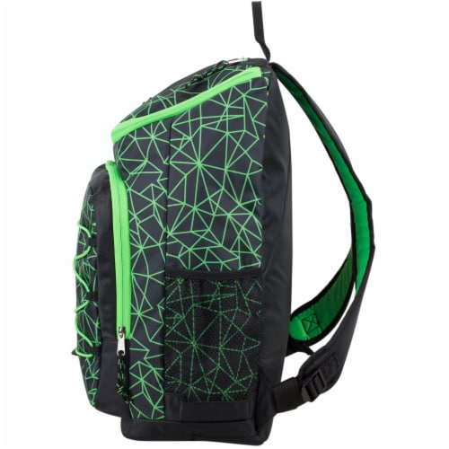 Fuel Wide Mouth Bungee Backpack - Black/Lime Perspective: right