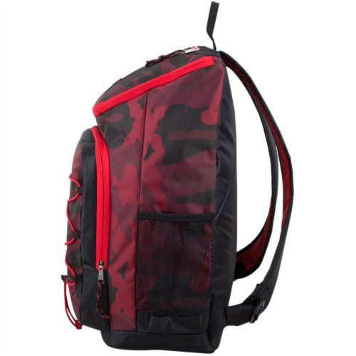 Fuel Wide Mouth Bungee Backpack - Red Camo Perspective: right