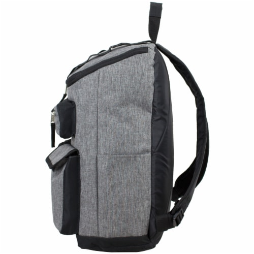 Fuel Wide Mouth Cargo Backpack - Mid-Grey Chambray Perspective: right