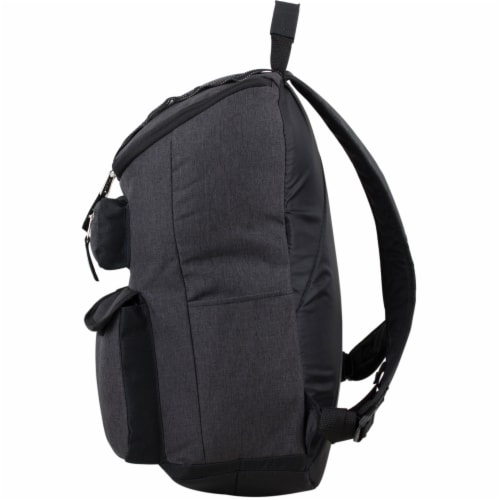 Fuel Wide Mouth Cargo Backpack - Black Chambray Perspective: right