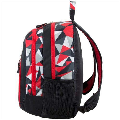 Eastsport Active 2.0 Backpack - Black/Poppy Red Geo Perspective: right
