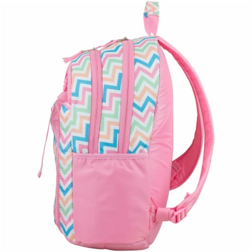 Fuel Deluxe Lunch Bag & Backpack Combo - Cotton Candy Chevron Perspective: right