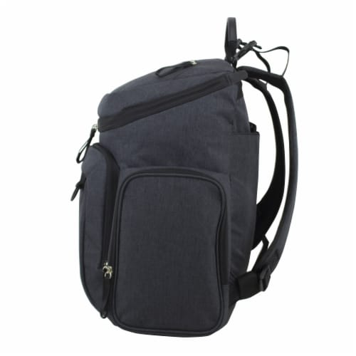 Bodhi Baby Wooster St. Diaper Backpack - Black Chambray Perspective: right