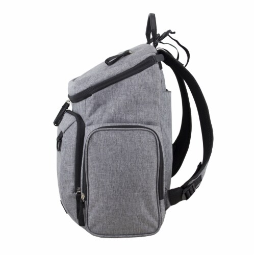 Bodhi Baby Wooster Street Diaper Backpack - Mid-grey Chambray Perspective: right