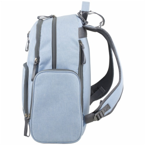 Bodhi Baby Bond Street Diaper Backpack - Light Blue Chambray Perspective: right