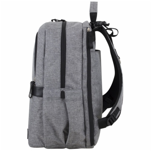 Bodhi Baby Rubin Weekender Tech Diaper Backpack - Mid-grey Chambray Perspective: right