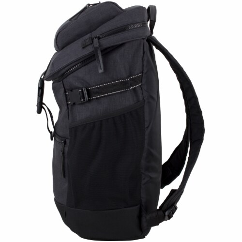 Fuel Barrier Top-Loading Backpack w/ Insulated Zip-Cooler Flap Pocket - Black Perspective: right