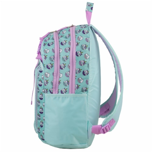 Fuel Deluxe Backpack/Lunch Bag Combo - Pink/Blue Perspective: right