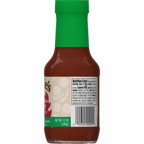 Annie's Organic Sweet & Spicy BBQ Sauce Perspective: right