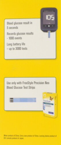 FreeStyle Precision Neo Blood Glucose Meter Kit Perspective: right
