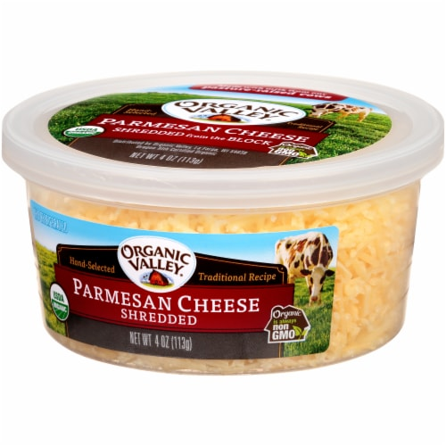 Organic Valley Shredded Parmesan Cheese Perspective: right