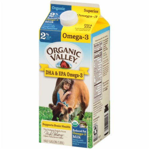 Organic Valley 2% Reduced Fat Omega-3 Milk Perspective: right