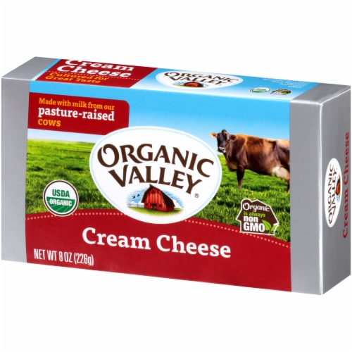 Organic Valley Cream Cheese Perspective: right