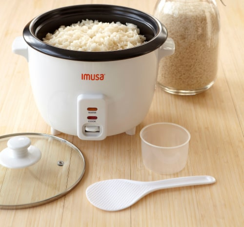 IMUSA Electric Nonstick Rice Cooker - White Perspective: right