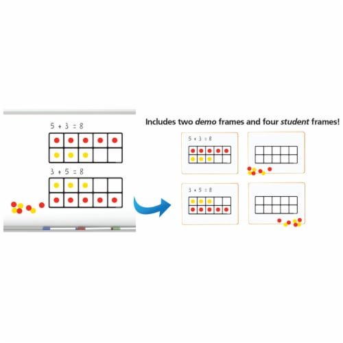 Dowling Magnets Magnet Math Ten Frames Magnet Set Perspective: right