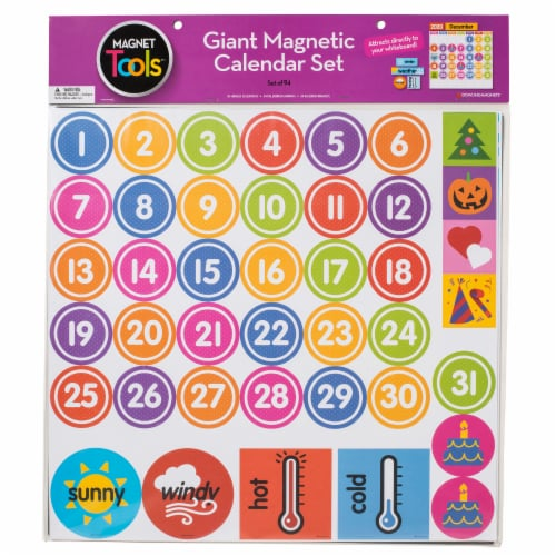 Dowling Magnets Giant Magnetic Calendar Set Perspective: right