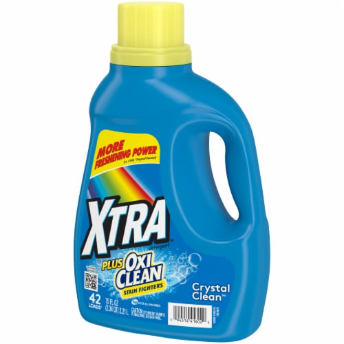 Xtra Plus Oxi Clean Liquid Laundry Detergent Perspective: right
