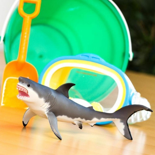 Great White Shark Toy Perspective: right