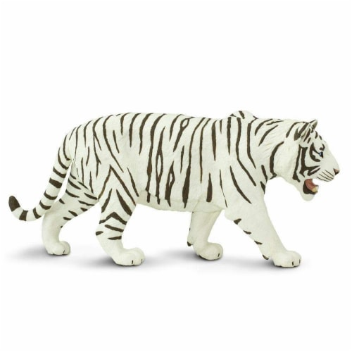 White Siberian Tiger Toy Perspective: right