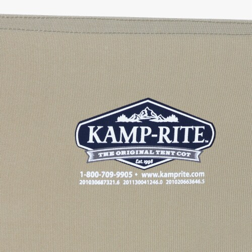 Kamp-Rite Compact Lightweight Economy Cot, Use for Portable Lounge or Bed, Tan Perspective: right
