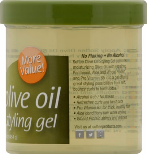Softee Silky Shine Olive Oil Styling Gel Perspective: right