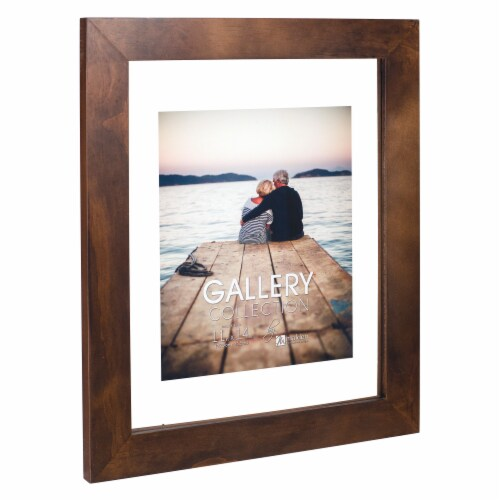 Malden Walnut Floating Glass Picture Frame Perspective: right