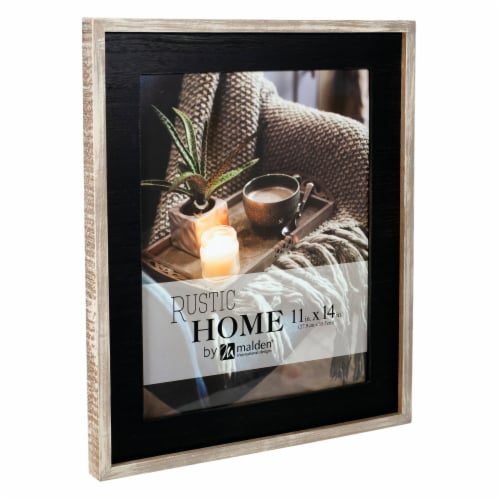 Malden Rustic Woods Wall Picture Frame - Black/Rustic Brown Perspective: right
