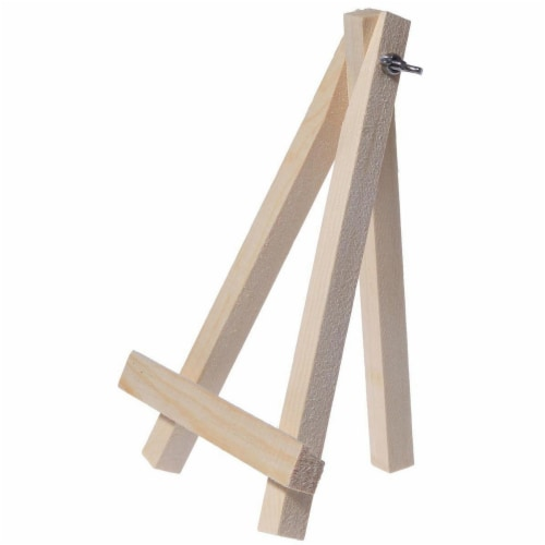 Juvale Wooden Mini Easel Stands for Desk or Tabletop (7 Inches, 6-Pack) Perspective: right