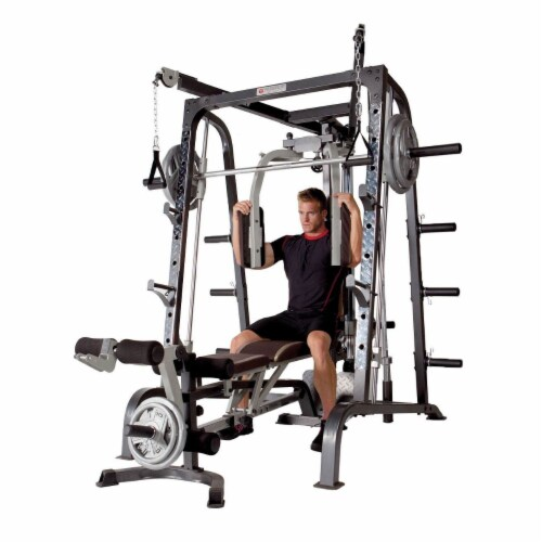 Marcy Deluxe Diamond Elite Smith Cage Home Workout Machine Total Body Gym System Perspective: right
