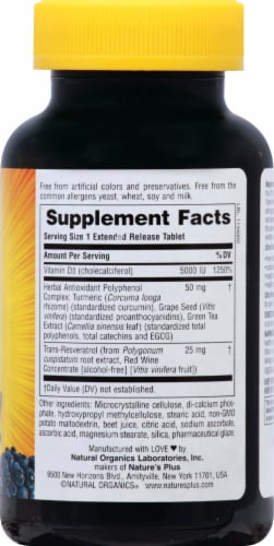 Nature's Plus  Ultra Vitamin D3 with Trans-Resveratrol Perspective: right