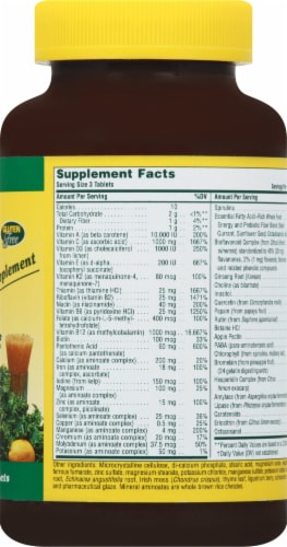 Nature's Plus Source Of Life Multi-Vitamin & Mineral Tablets 180 Count Perspective: right