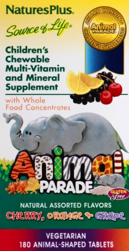 Nature's Plus Animal Parade Chewable Vitamin Perspective: right