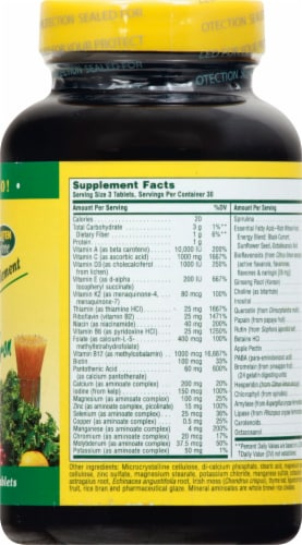 Nature's Plus Source of Life Tablets 90 Count Perspective: right