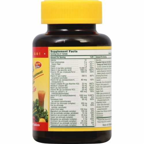 Nature's Plus  Source of Life® Multi-Vitamin and Mineral Supplement Perspective: right