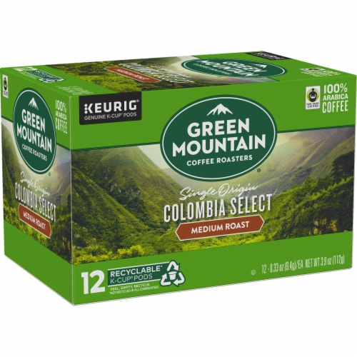 Green Mountain Coffee Colombia Select Medium Roast K-Cup Pods Perspective: right