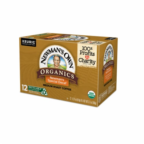 Newman's Own Organics Special Decaf Medium Roast Coffee K-Cup Pods Perspective: right