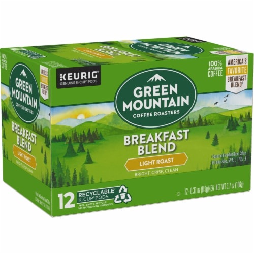 Green Mountain Coffee Roasters Breakfast Blend Light Roast K-Cup Pods Perspective: right