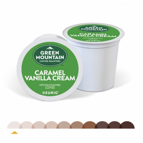 Green Mountain Coffee™ Caramel Vanilla Cream Coffee K-Cup Pods Perspective: right