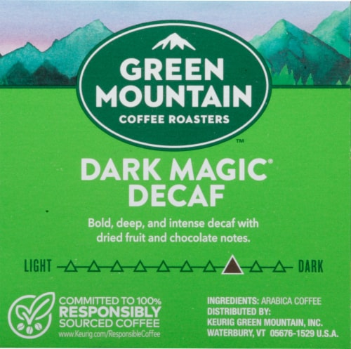 Green Mountain Coffee Roasters Decaf Dark Magic Dark Blend K-Cup Pods Perspective: right